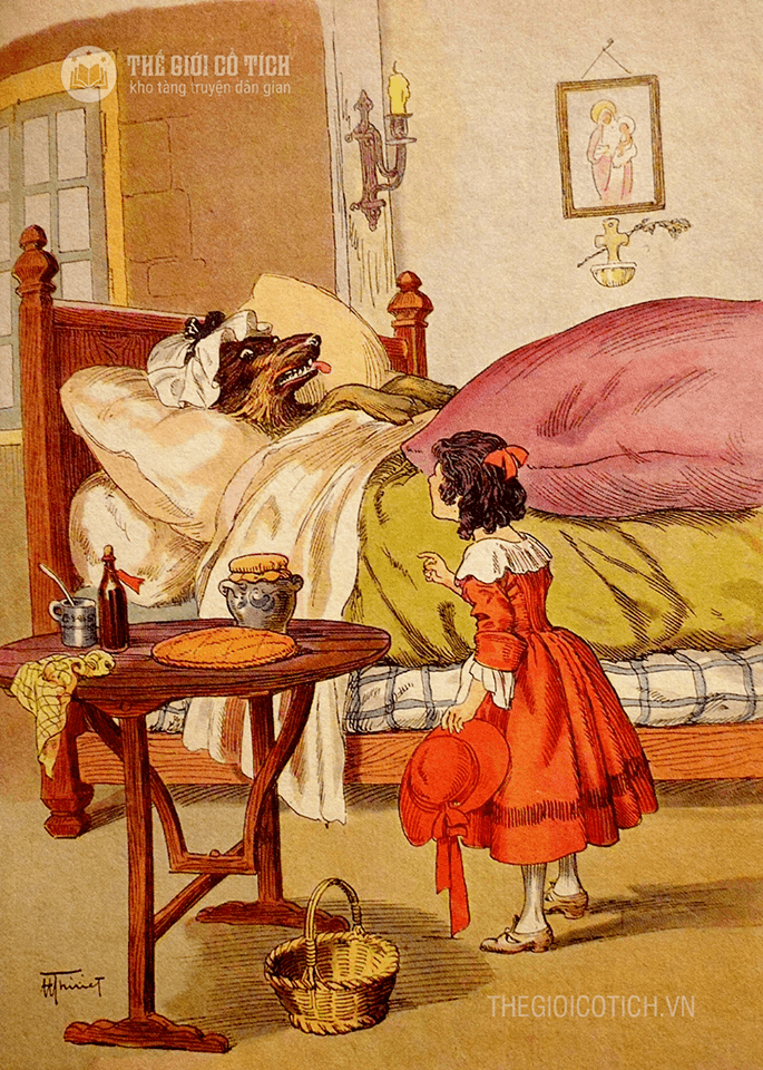 Truyện cổ tích Cô bé quàng khăn đỏ