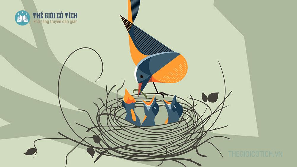 Bài thơ Con chim non