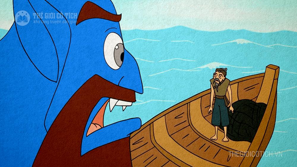 Câu chuyện Bác đánh cá và gã hung thần - Truyện dân gian Ả Rập