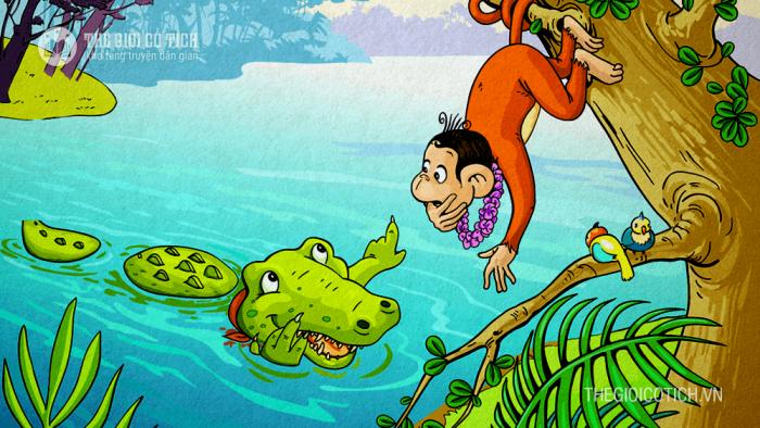 Khỉ và Cá Sấu [truyện ngụ ngôn Việt Nam]