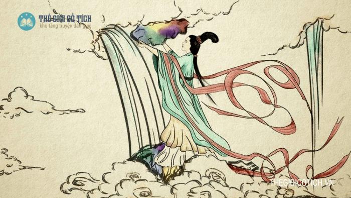 Nữ Oa vá trời [truyện thần thoại Trung Quốc]