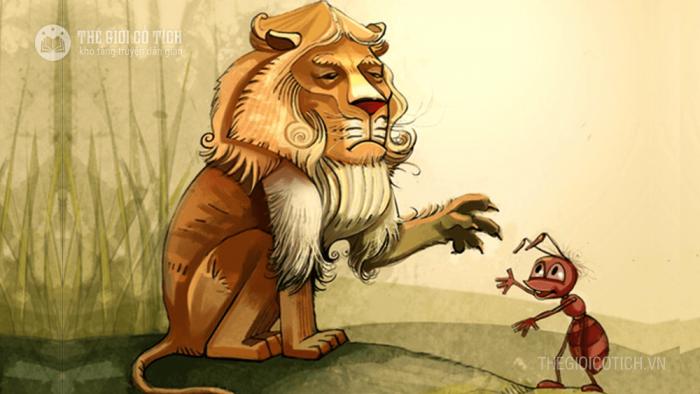 Sư tử và kiến càng [truyện ngụ ngôn về tình bạn]
