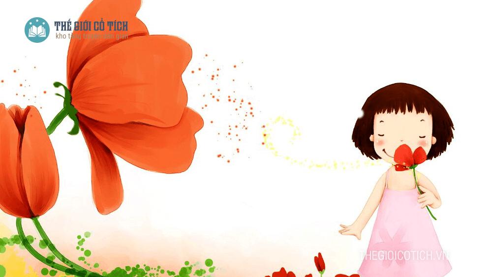 Truyện cổ tích Miệng nói ra hoa ra ngọc