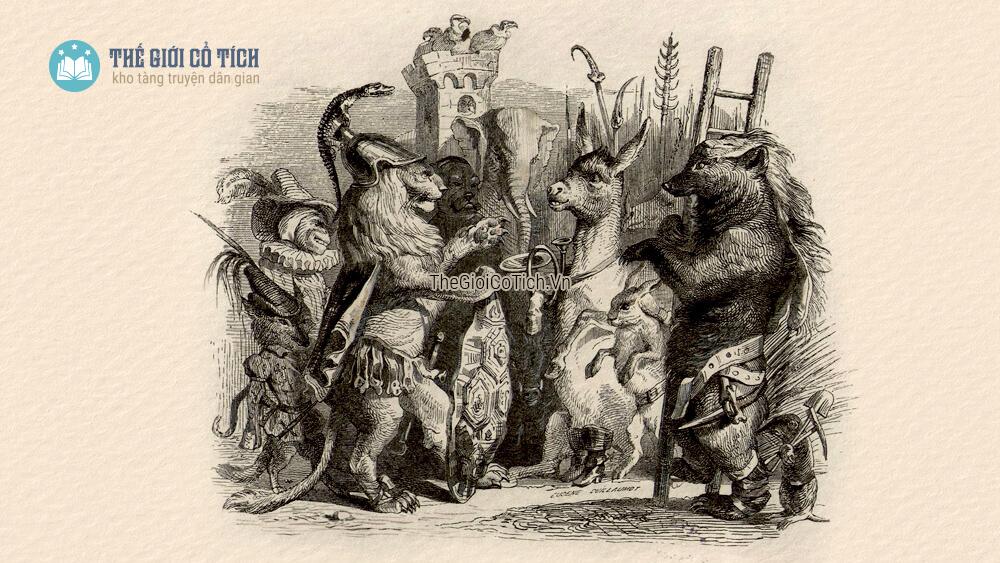 Truyện ngụ ngôn La Phông-ten Sư Tử xuất quân