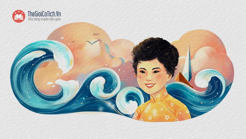 Hình ảnh nhà thơ Xuân Quỳnh trên trang chủ của Google năm 2019
