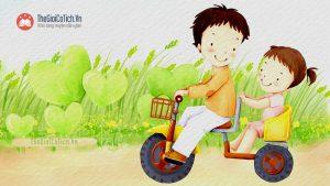 Bài thơ Bé tập đi xe đạp