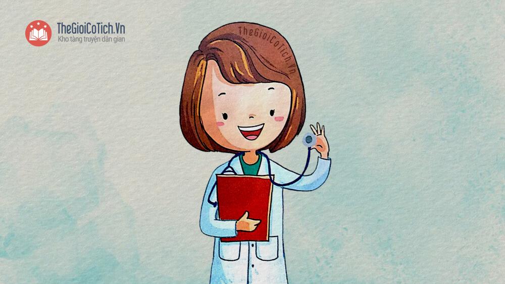 Bài thơ Bé tập làm bác sĩ