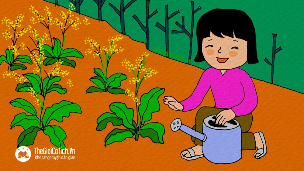 Bài thơ Vườn cải