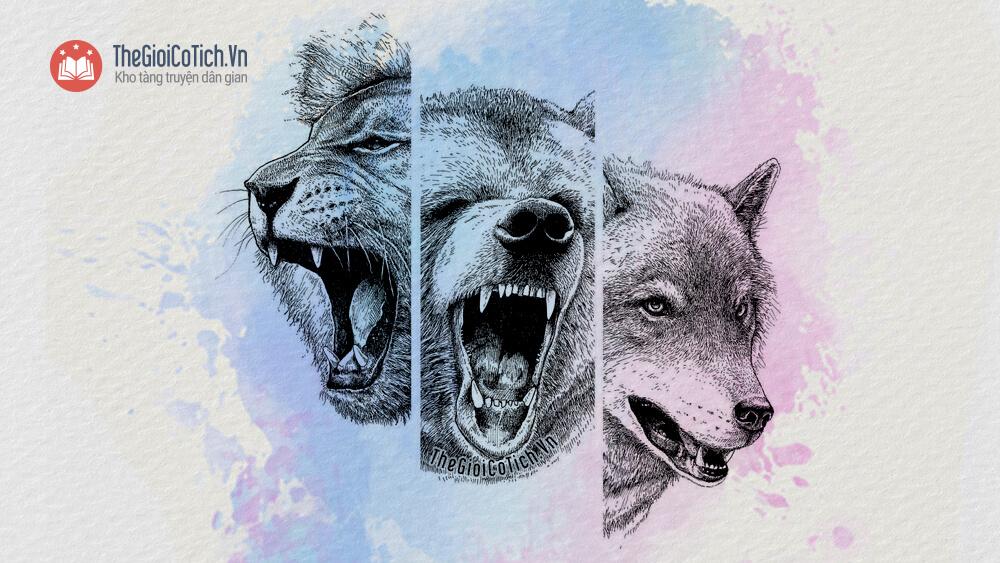 Gấu, chó sói và sư tử