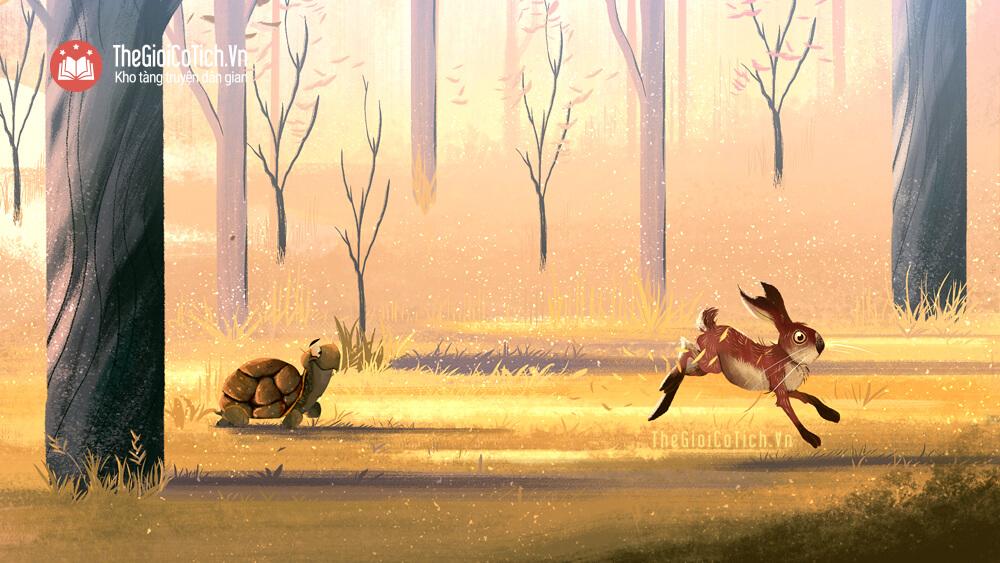 Truyện ngụ ngôn Thỏ và Rùa