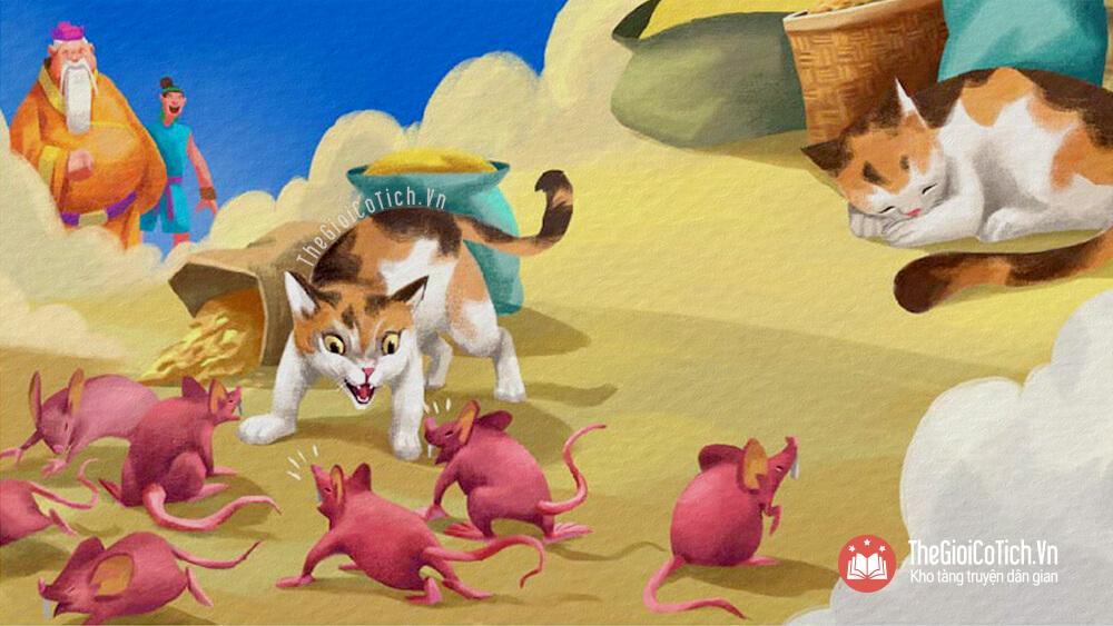 Truyện Sự tích vì sao Mèo ghét Chuột