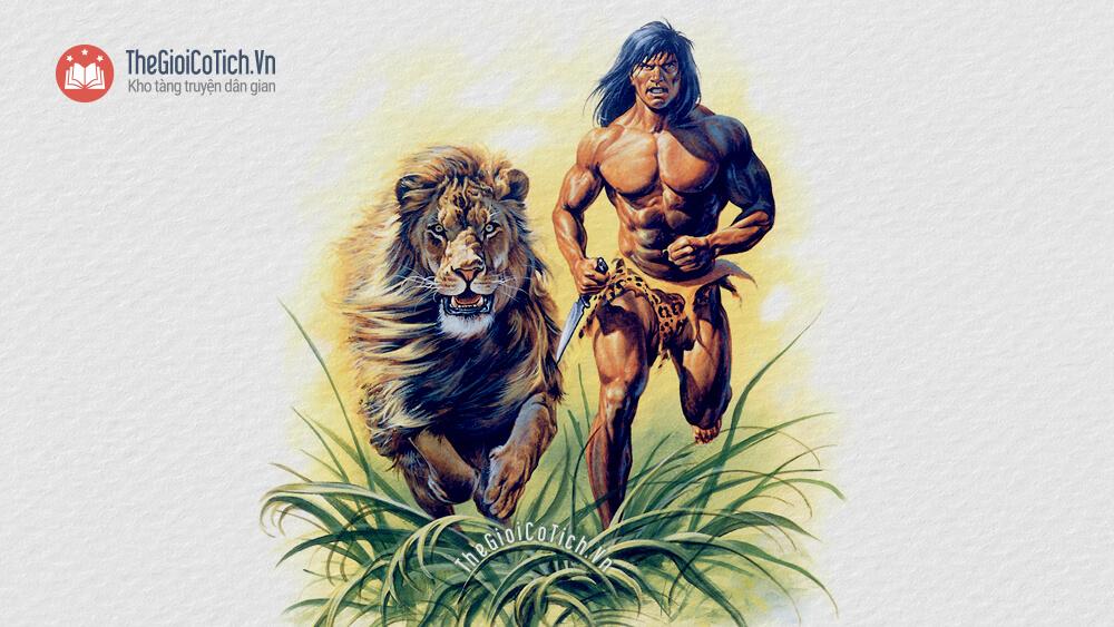 Truyện Con Sư Tử già và người thợ rừng