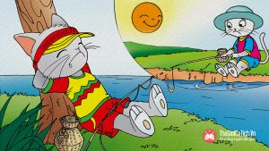 Bài thơ Mèo đi câu cá