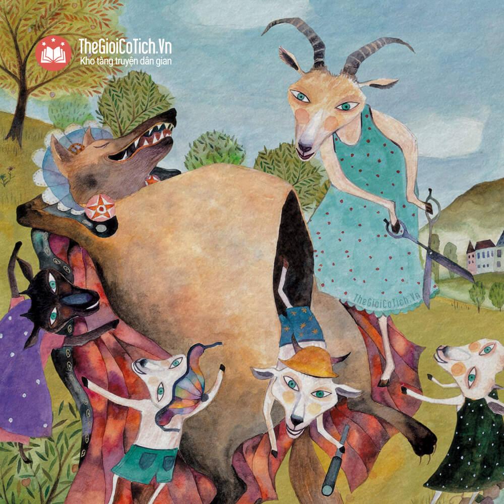 Truyện Chó sói và bảy chú dê con
