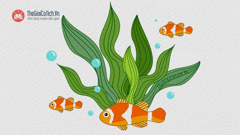 Bài thơ Rong và cá mầm non
