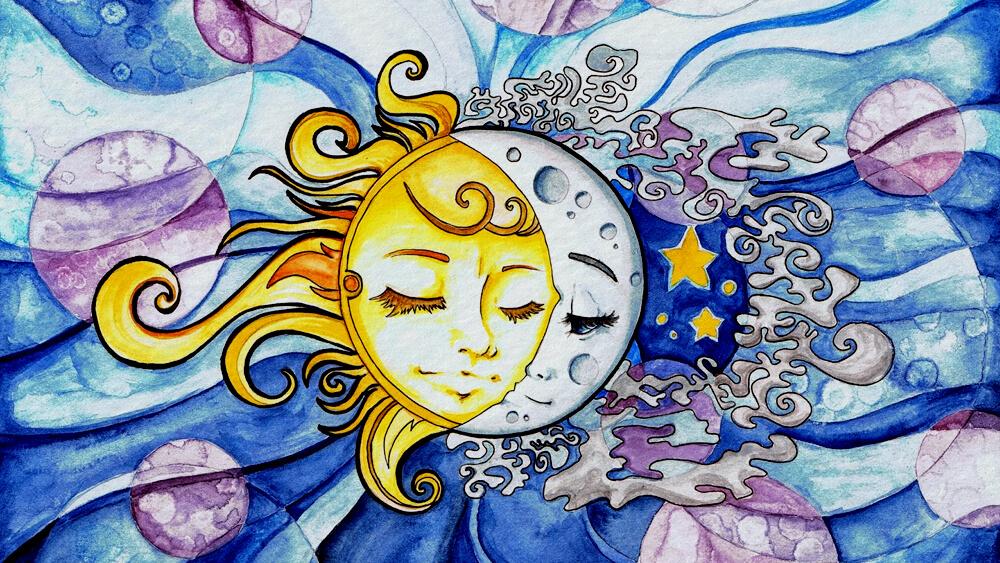 Nữ thần Mặt Trời và Mặt Trăng